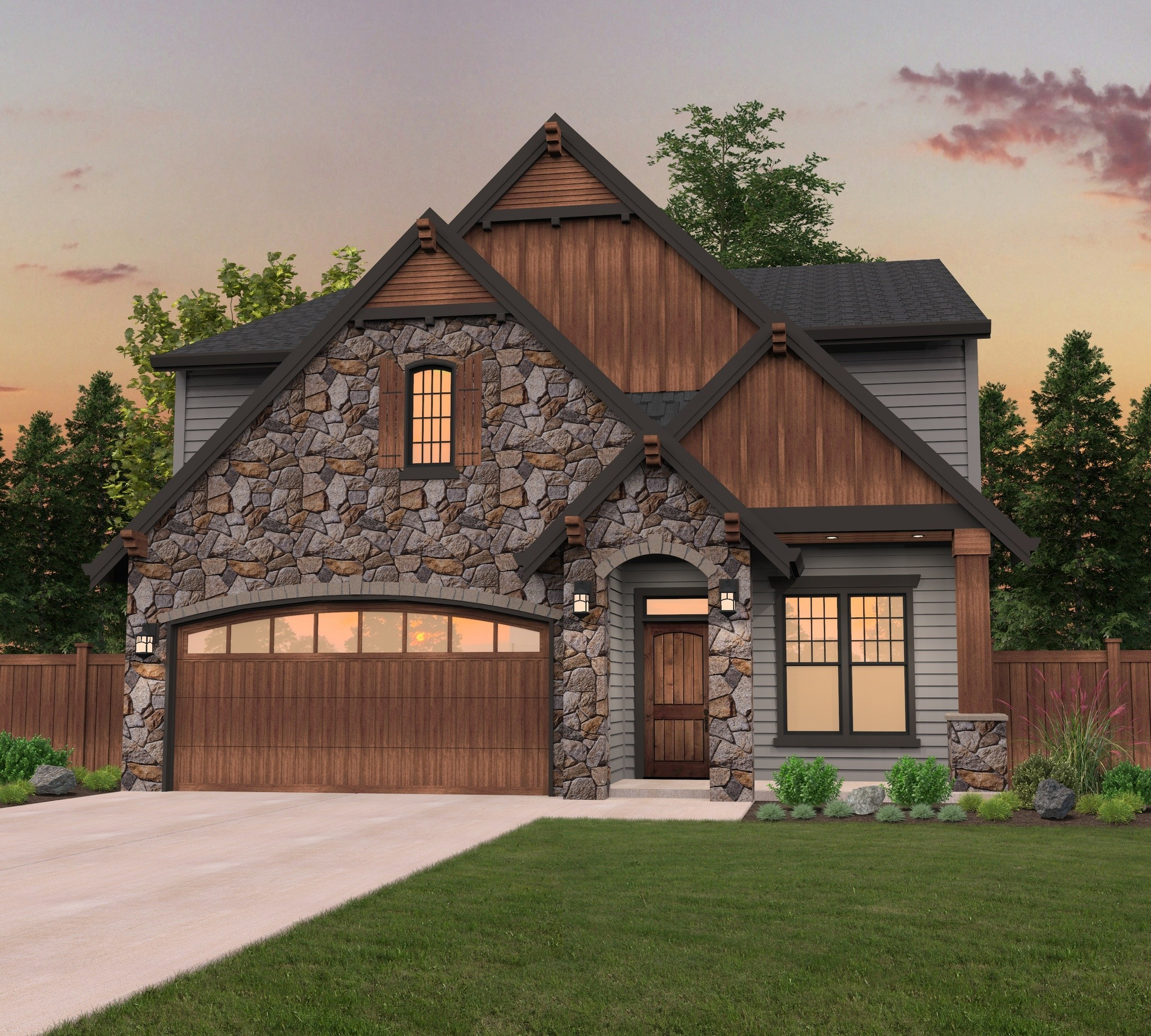 Modern Craftsman House Plans | Custom Craftsman Home Designs with Photos