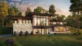 downsloped modern house plan