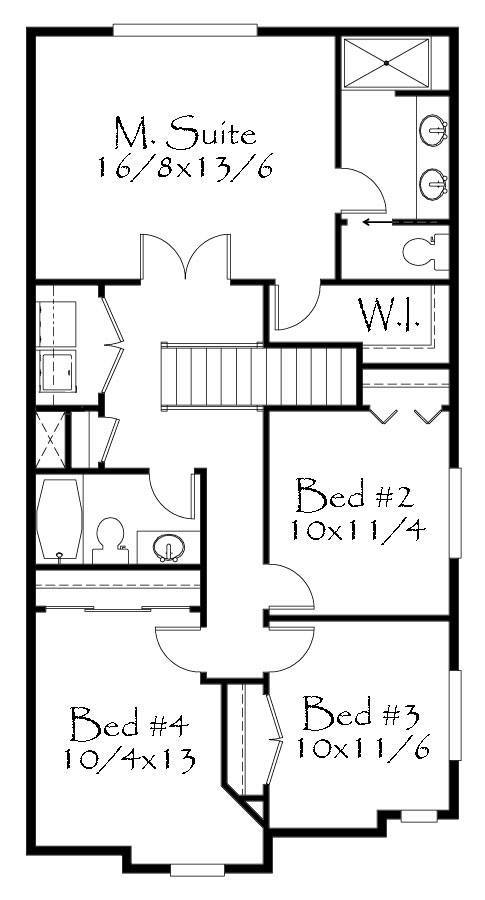 1678 house plan cottage house plans french country for Old world floor plans