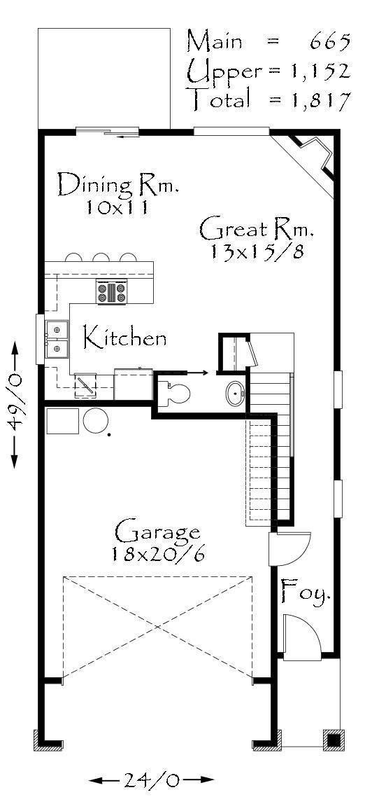 1817 house plan cottage house plans craftsman house for Old world floor plans