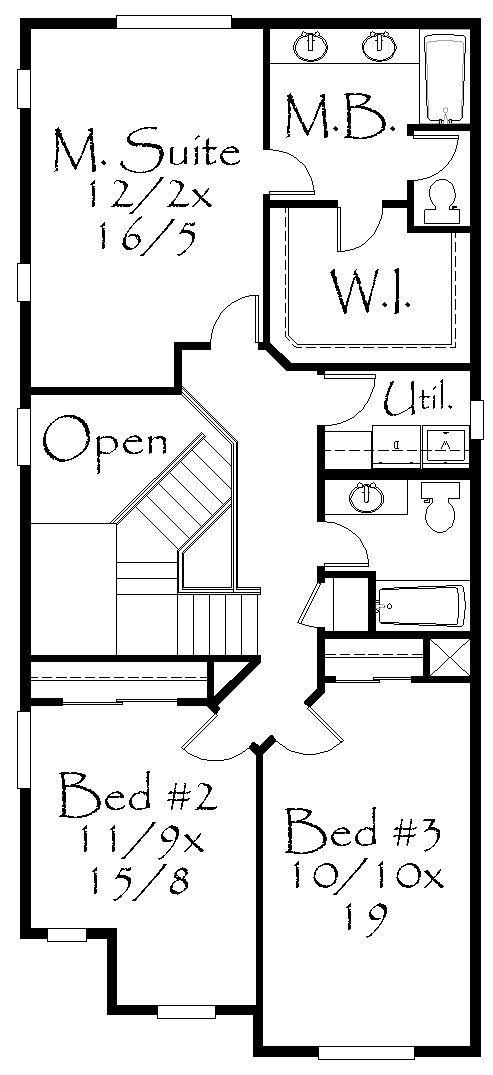 M 1861b house plan old world european style house plans for Old world floor plans