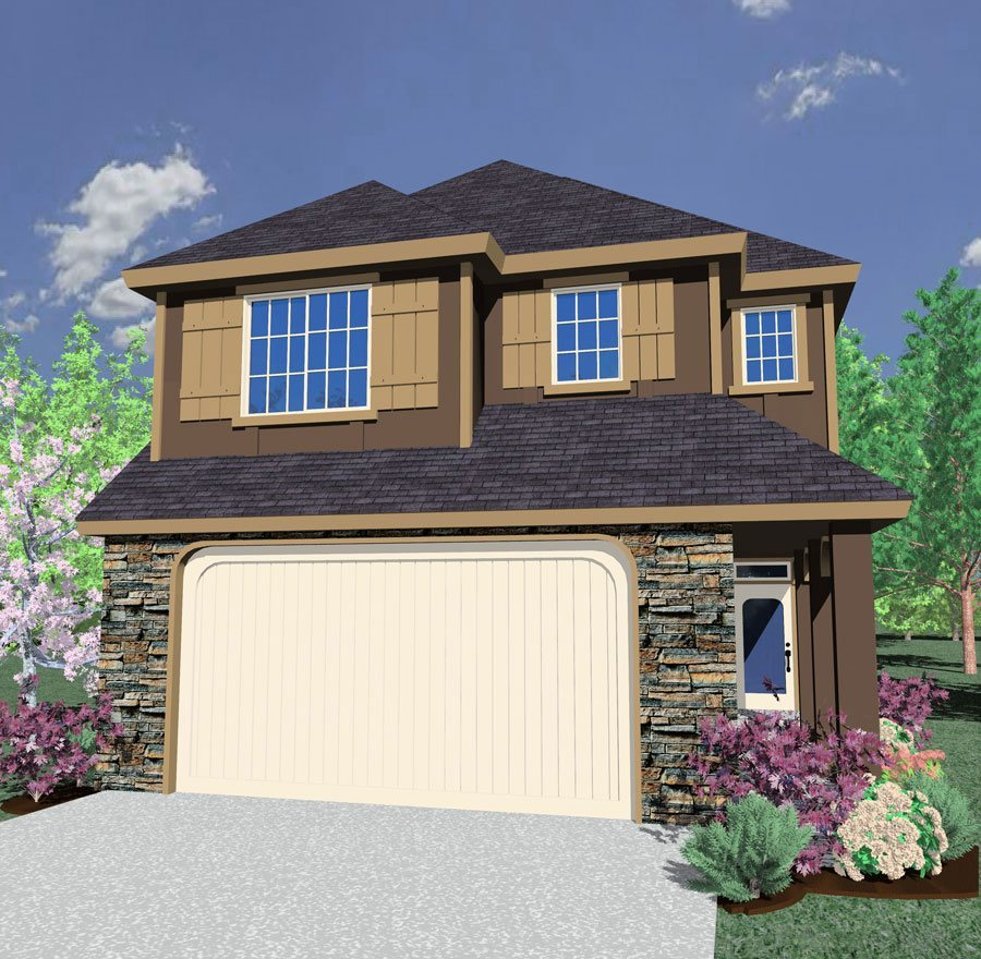 4500 Square Feet Tropical House On A Very Small Lot But: Brightwood House Plan