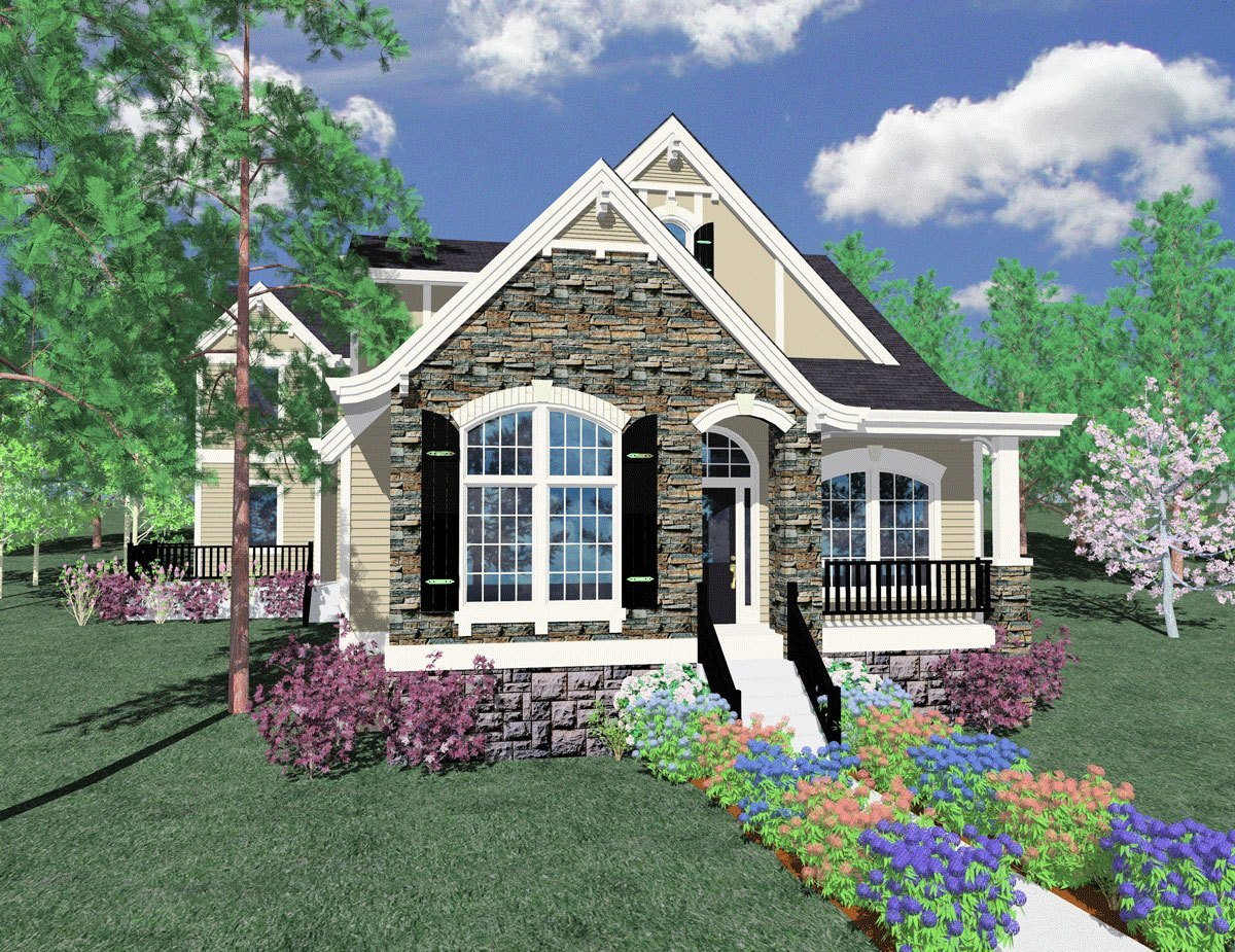 French haus house plan french country house plans old for Old world cottage plans