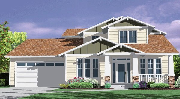 Top selling craftsman house plan with master on the main for Top selling house plans