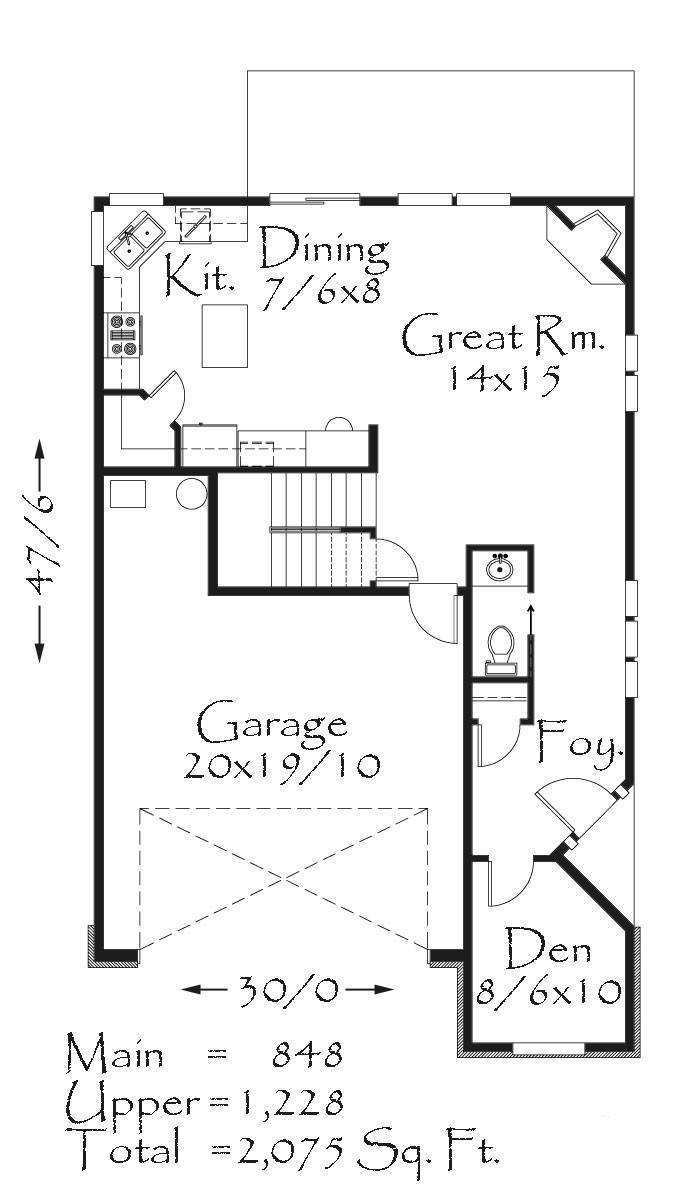 2073 house plan bungalow house plans cottage house for Purchase house plans