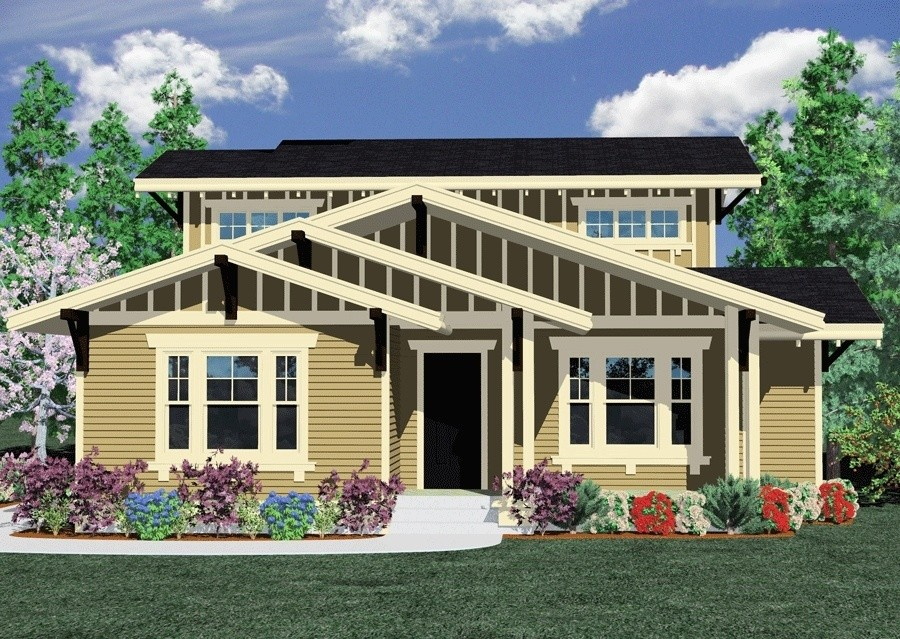 2153 house plan craftsman house plans prairie craftsman for Transitional house plans