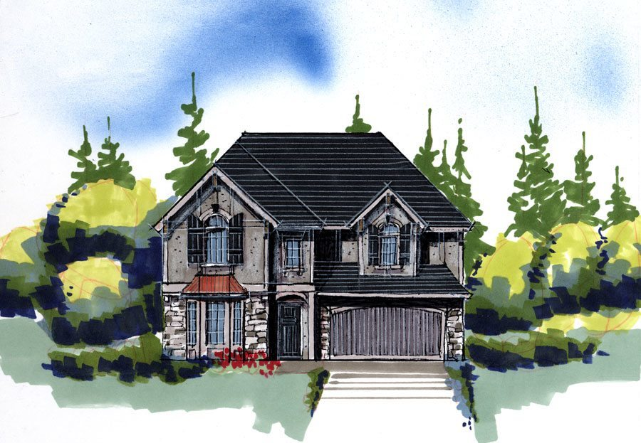 Green preserve house plan old world european style house for Old world european house plans