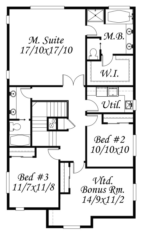 Phillips house plan cottage house plans french country for Old english house plans