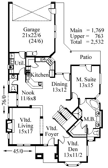 Normandy house plan old world european style house plans for Old world floor plans