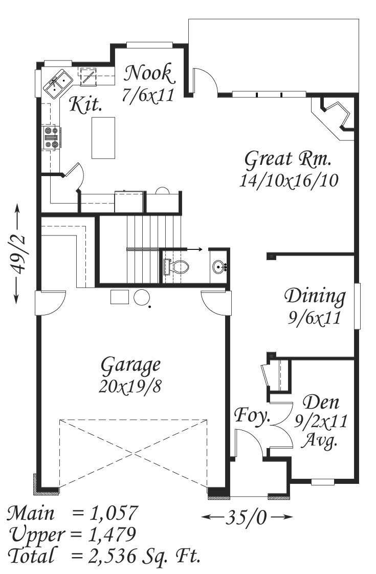 M 2536 House Plan Old World European Style House Plans