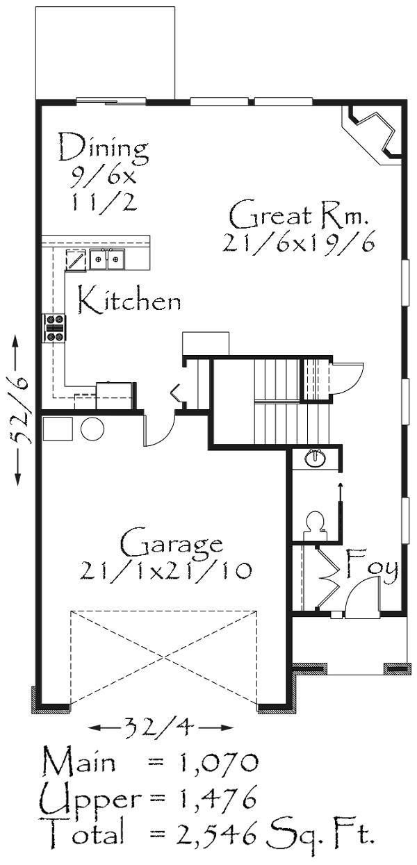 2547 House Plan Bungalow House Plans Cottage Style