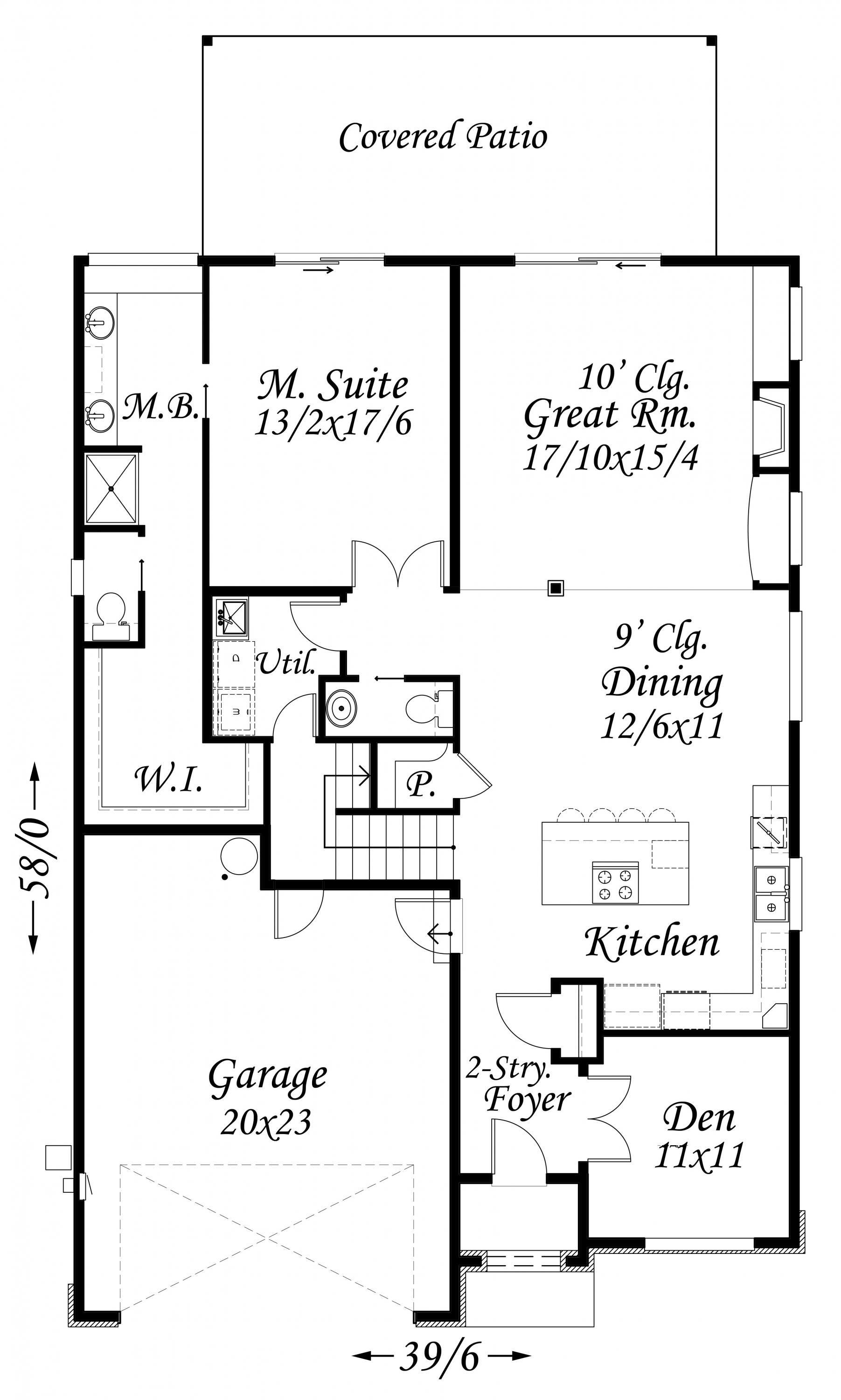 Pleasant meadow house plan transitional house plans for Transitional house plans