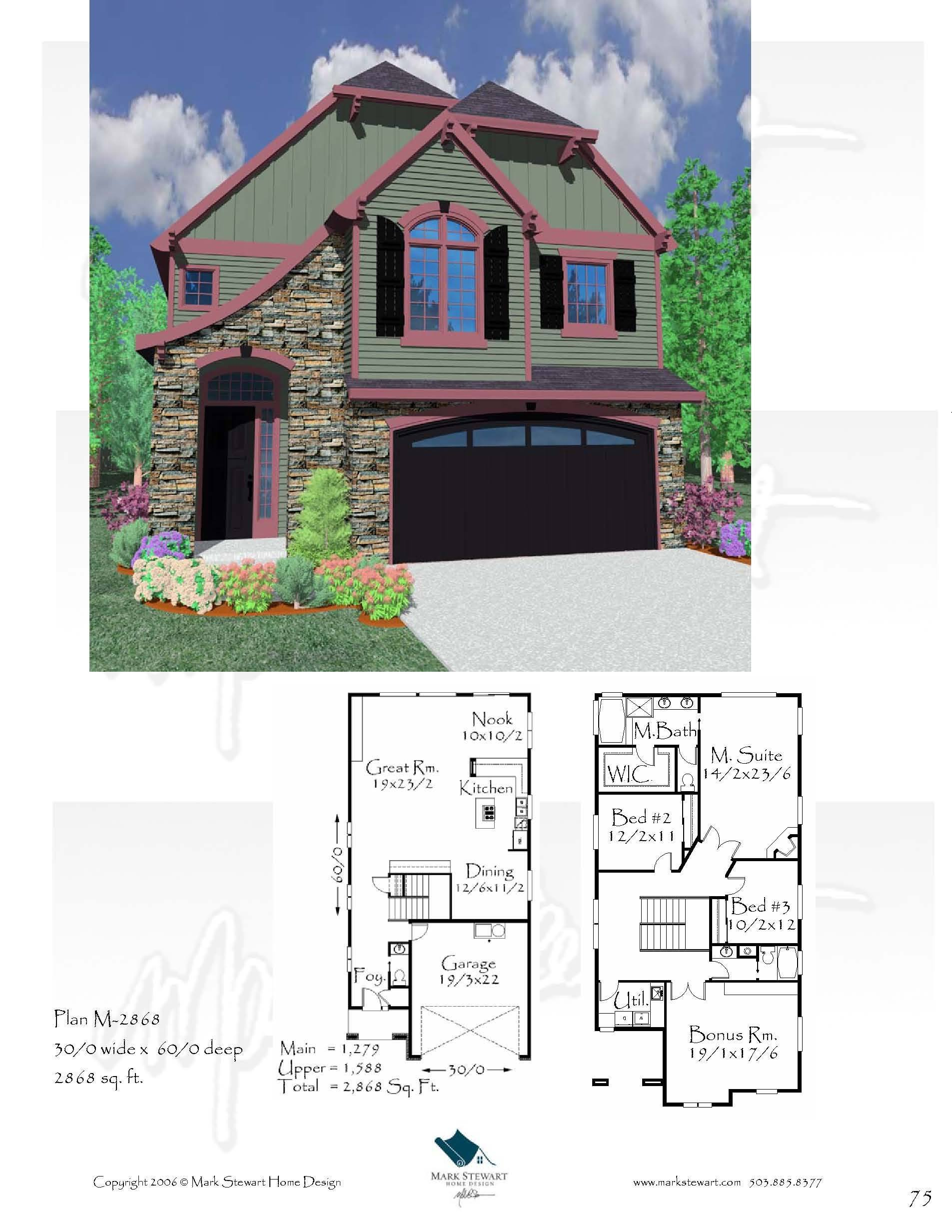 M-2868 House Plan | French Country House Plans, Old World European ...