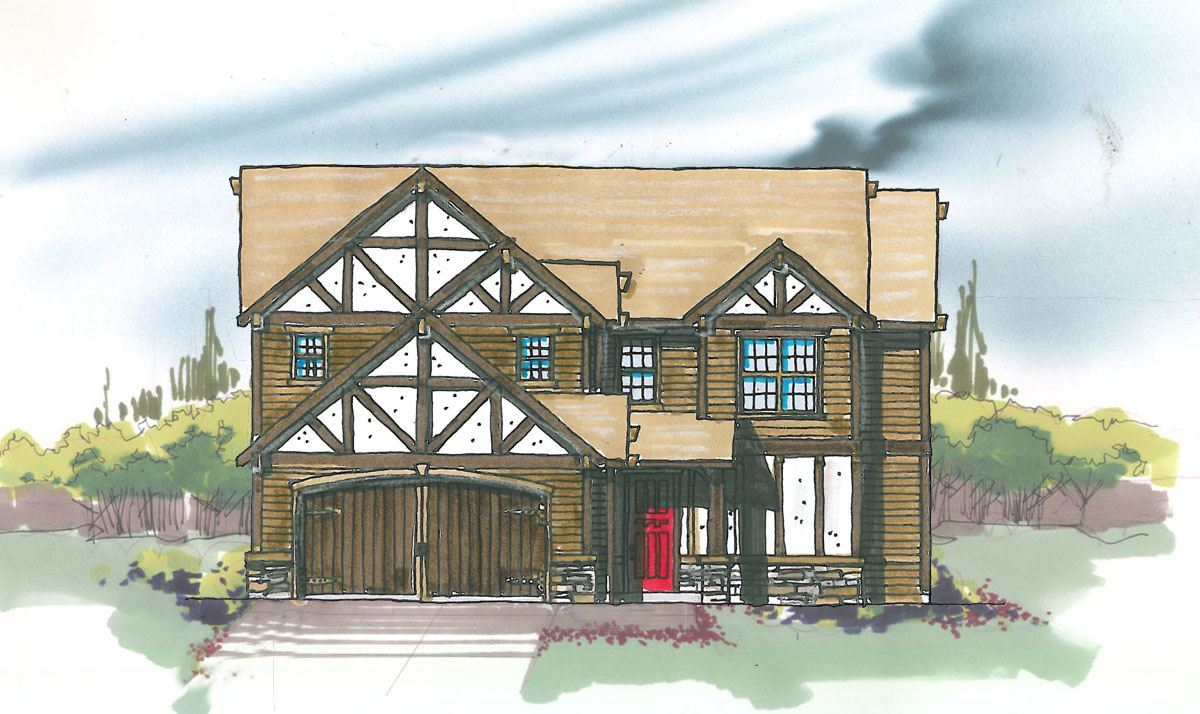 Wetherland house plan old world european style house plans for Old world style house plans