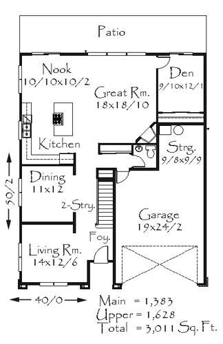 3011 house plan country house plans french country for Old world floor plans