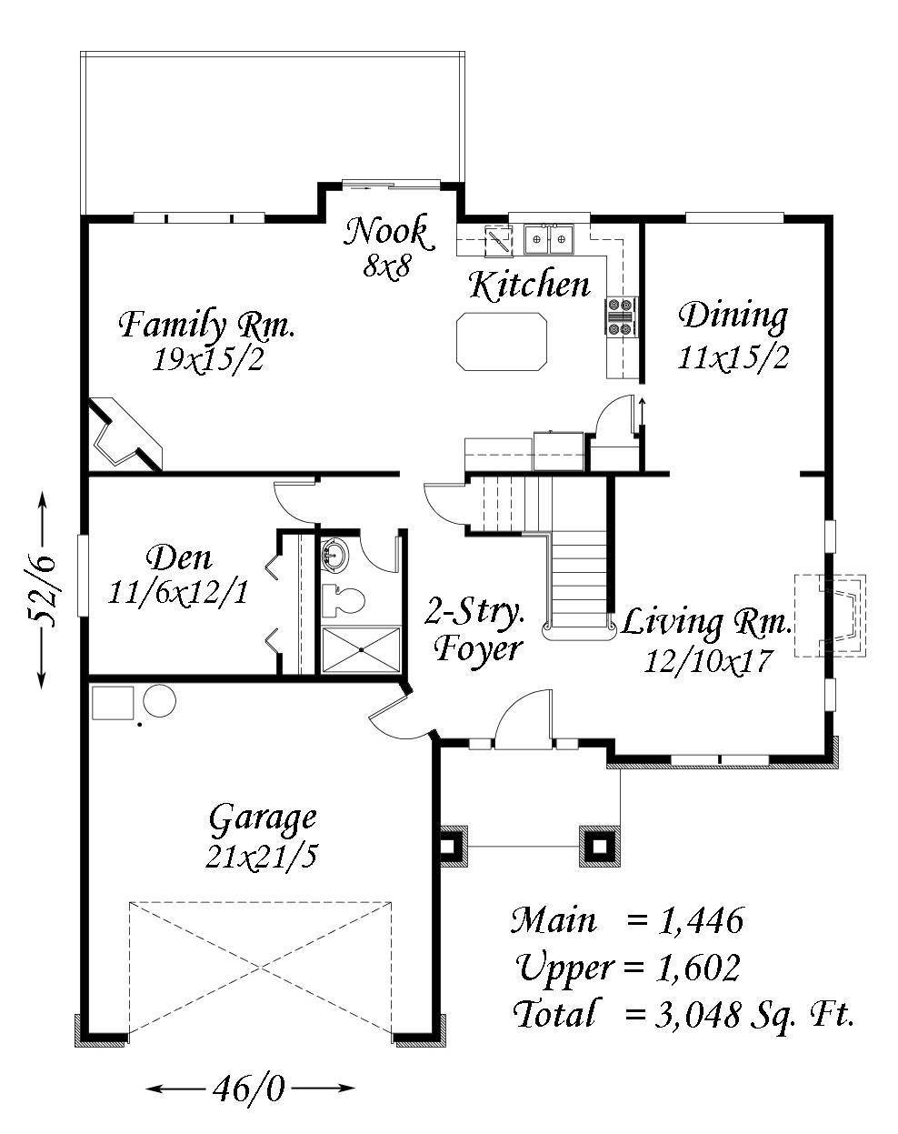 3048 house plan french country house plans old world for Old world european house plans