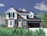 M-3157ARC French Country House Plan Front Elevation