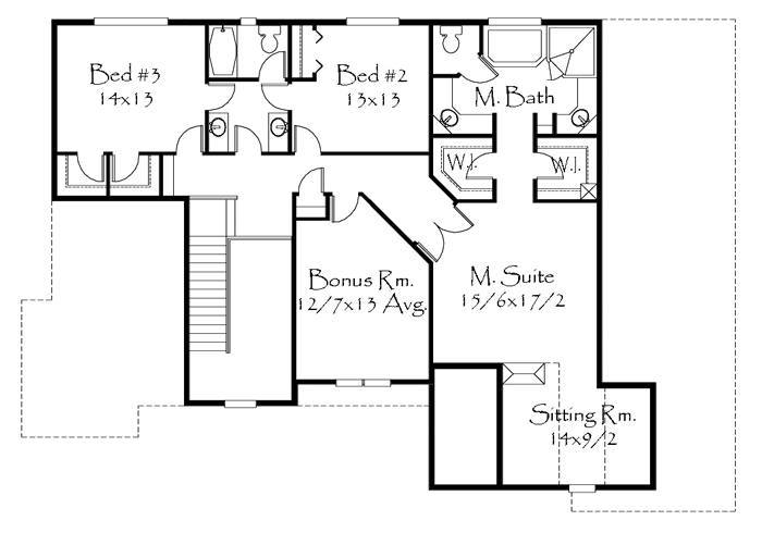 3203 house plan craftsman house plans french country for Old world floor plans