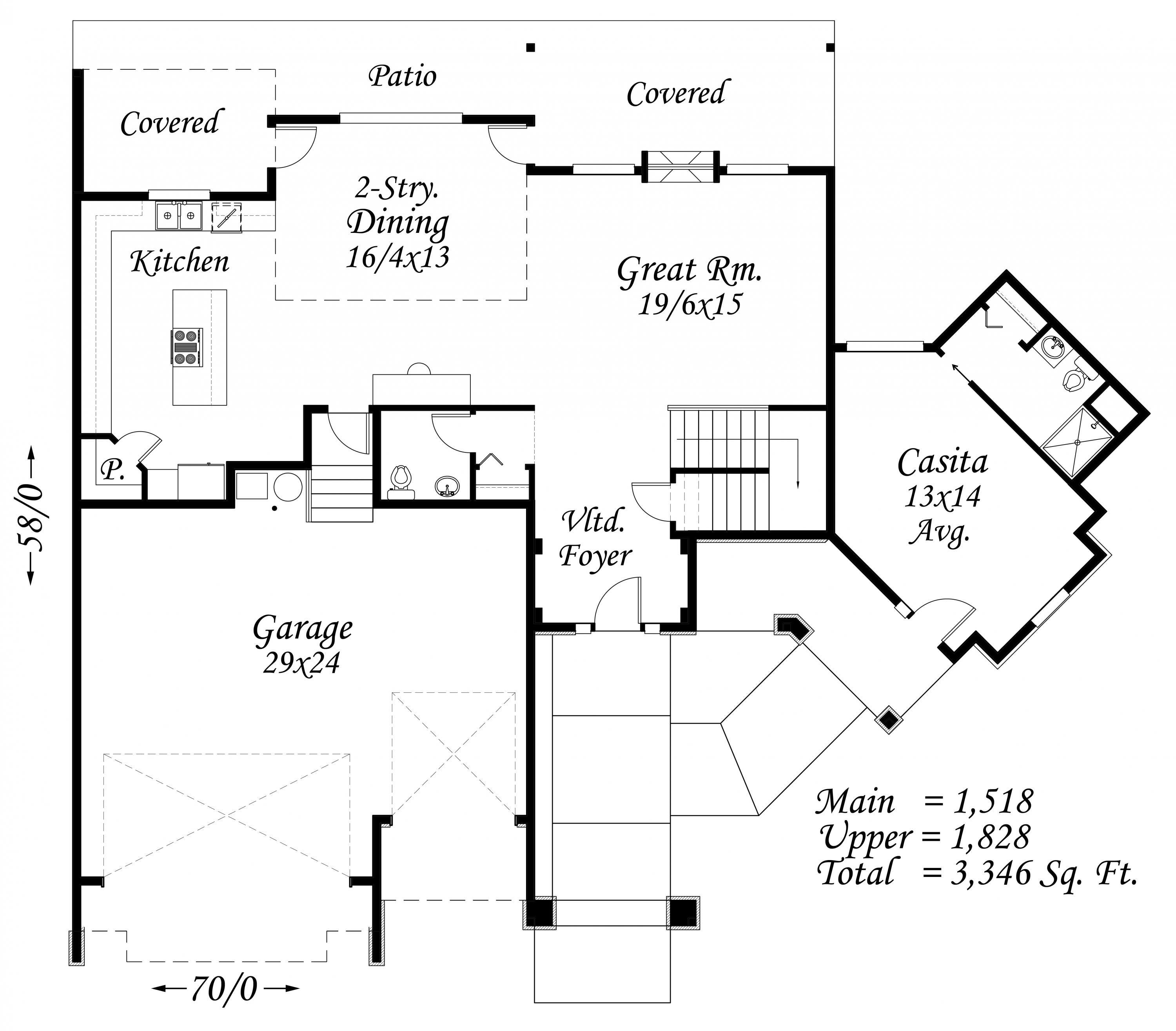 French Quarter House Plan French Country House Plans