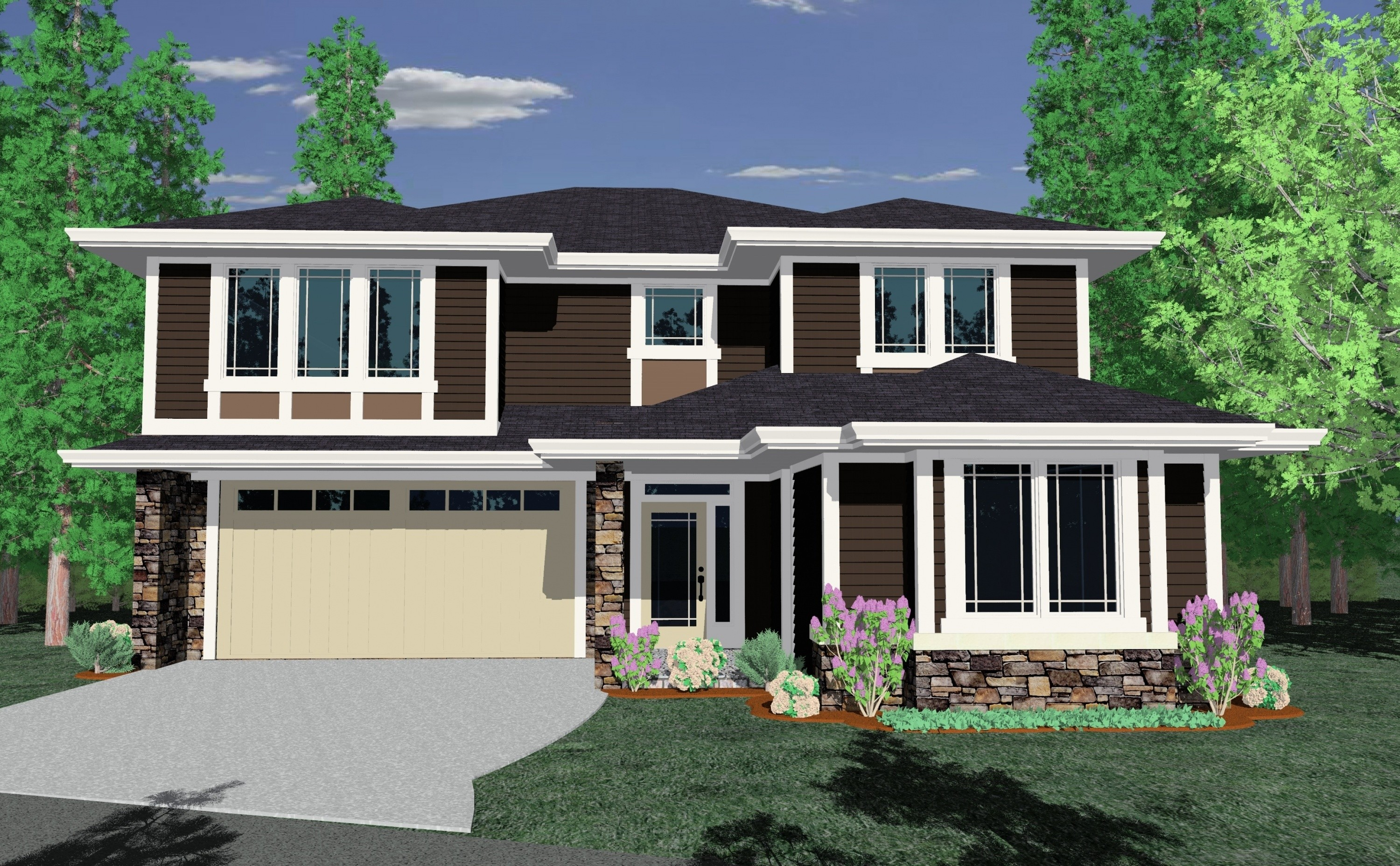 Bright plains house plan northwest modern house plans for Bright house design