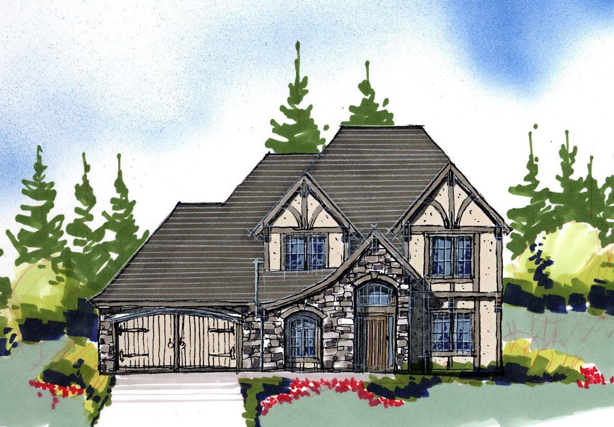 3505jdr house plan tudor house plans for Tudor house plans