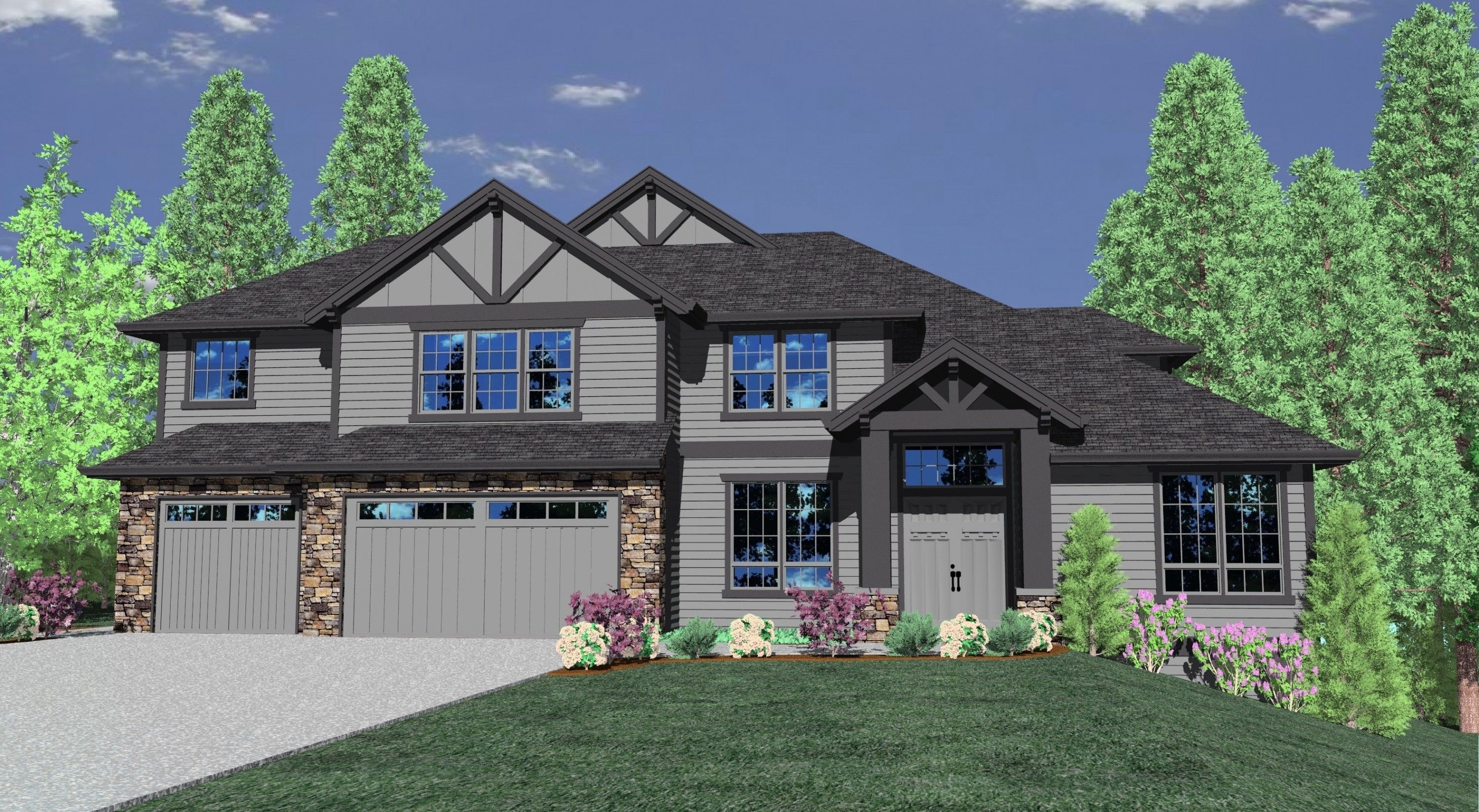 M 3876gfh house plan transitional house plans for Transitional home plans