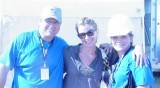 Tracy Hutson, Chele Stewart and Mark Stewart (not