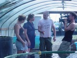 Ed, Tracy and Chele Stewart at Springbrook Koi far