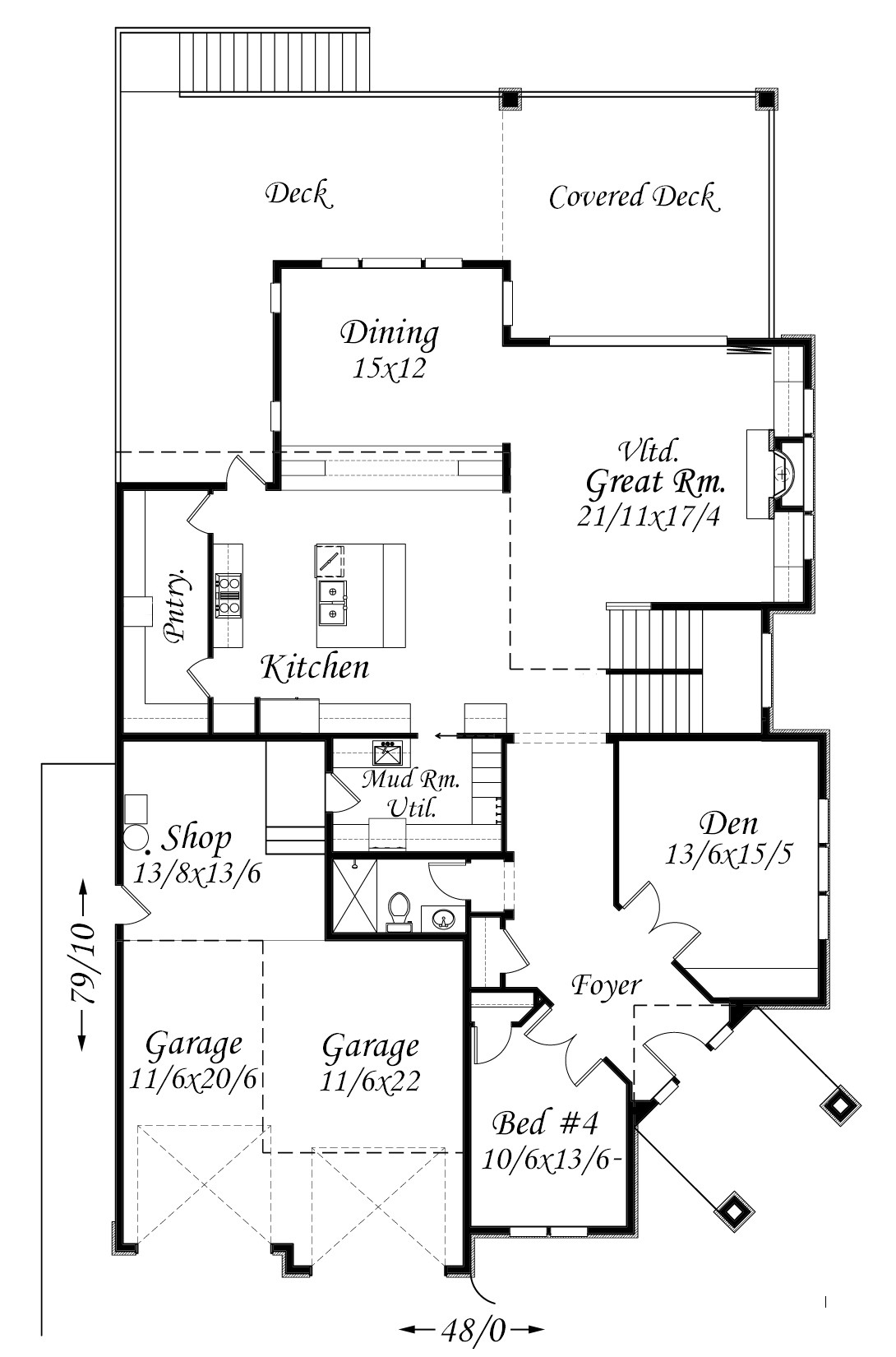 Smith rock house plan old world european style house plans for Old world house plans
