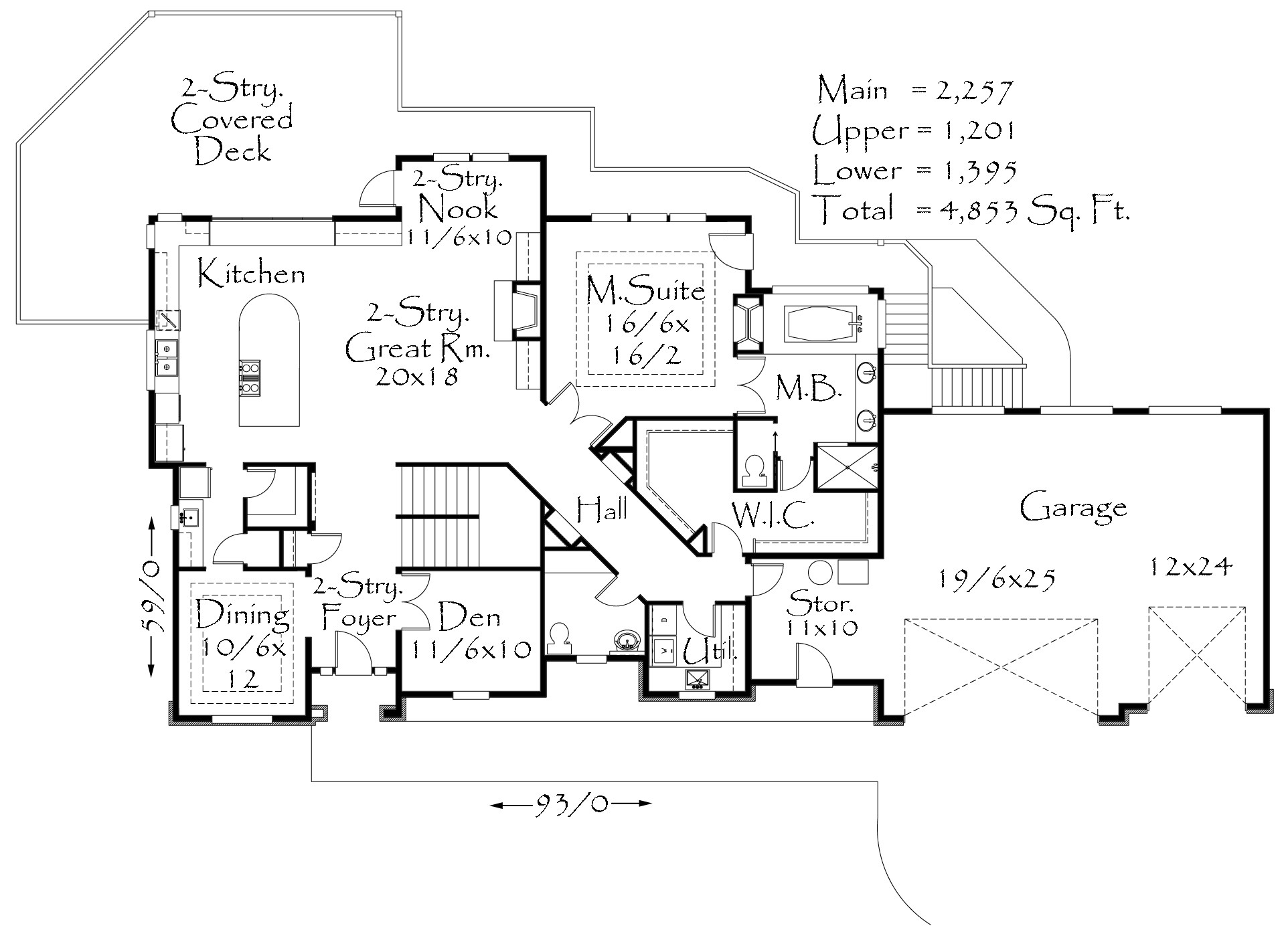 M 4853 House Plan Old World European Style House Plans