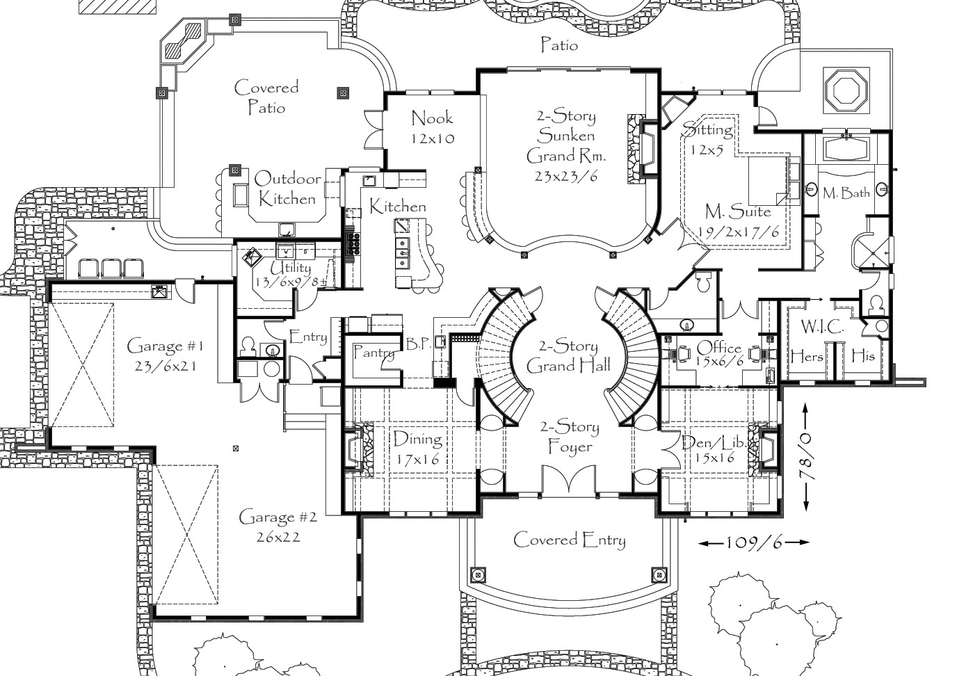 5967 house plan country house plans french country for Old world floor plans