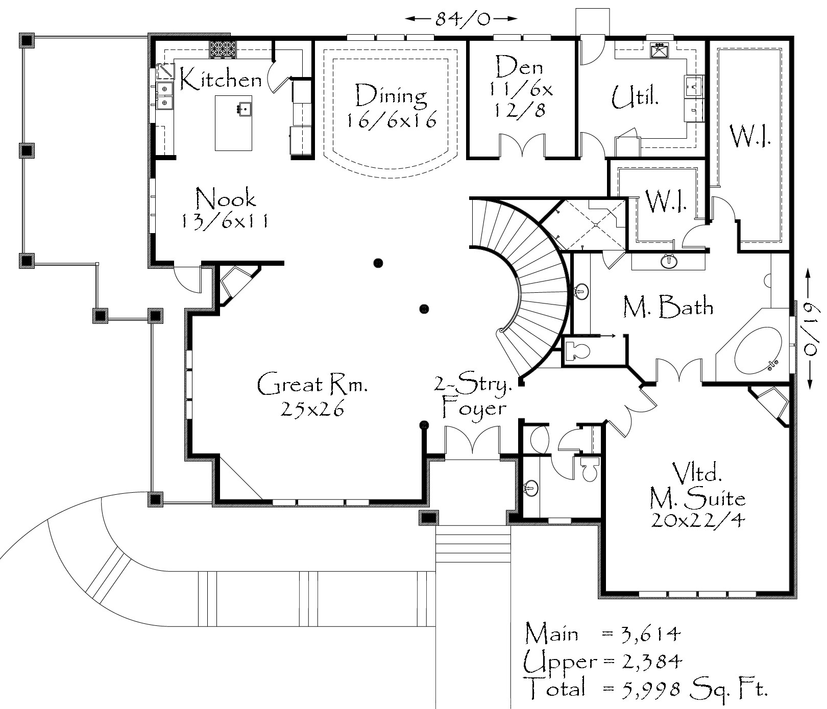M 5999 house plan old world european style house plans for Old world floor plans