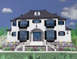 House Plan Front Rendering