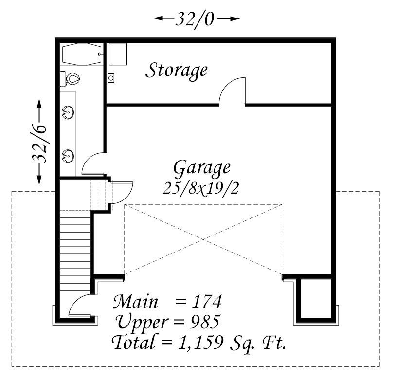 Detached Garage Plan By Mark Stewart Home Design: Mark Stewart Home Design