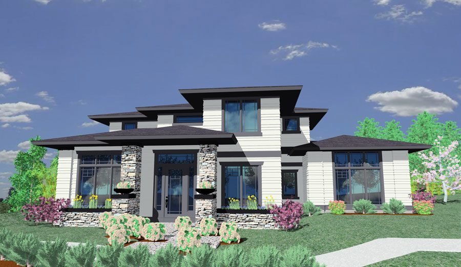 2412 house plan contemporary house plans mediterranean for Contemporary prairie home plans