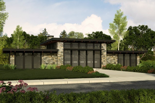 Mark Stewart Contemporary House Plan-Black Diamond