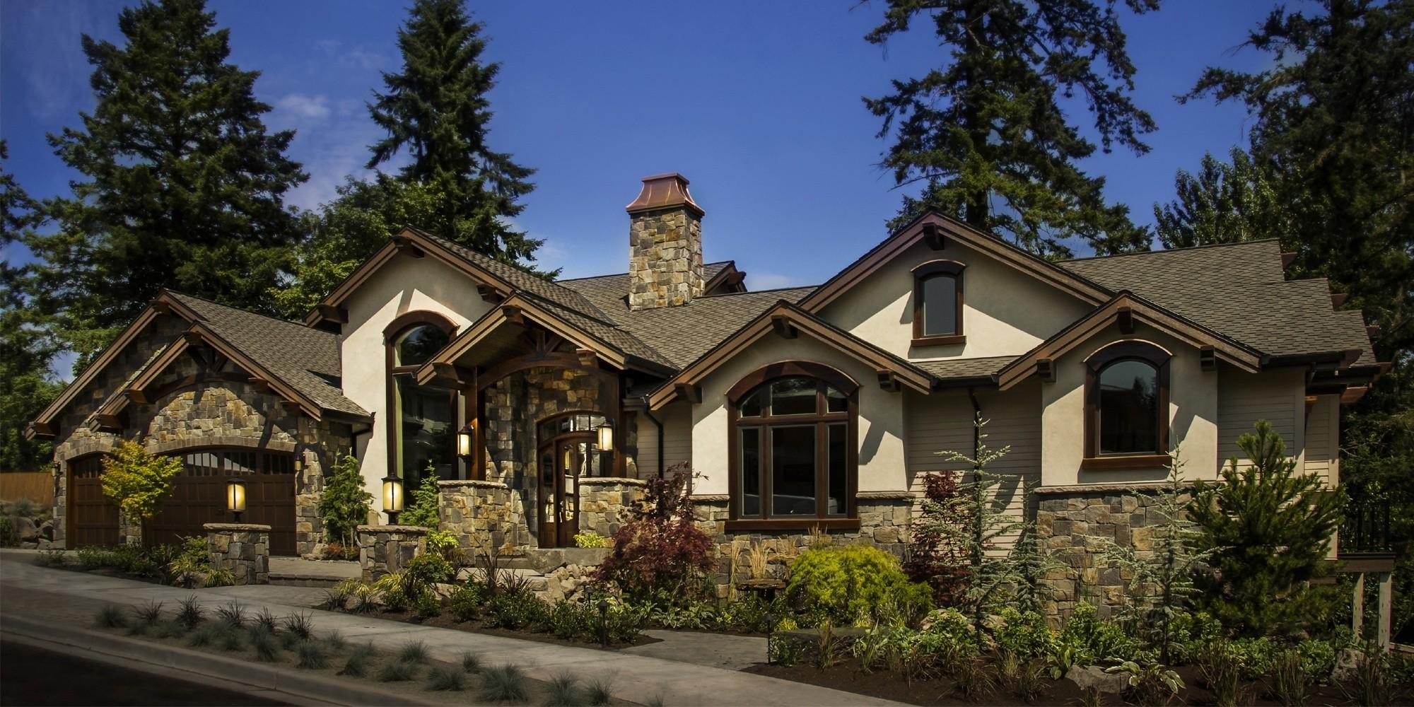 Modern lodge house plan davinci