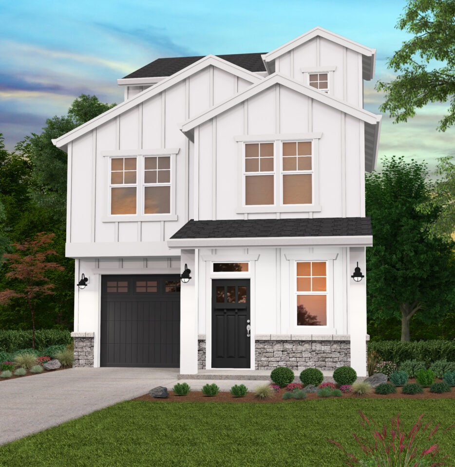 Narrow 3 story craftsman house plan with all kinds of space