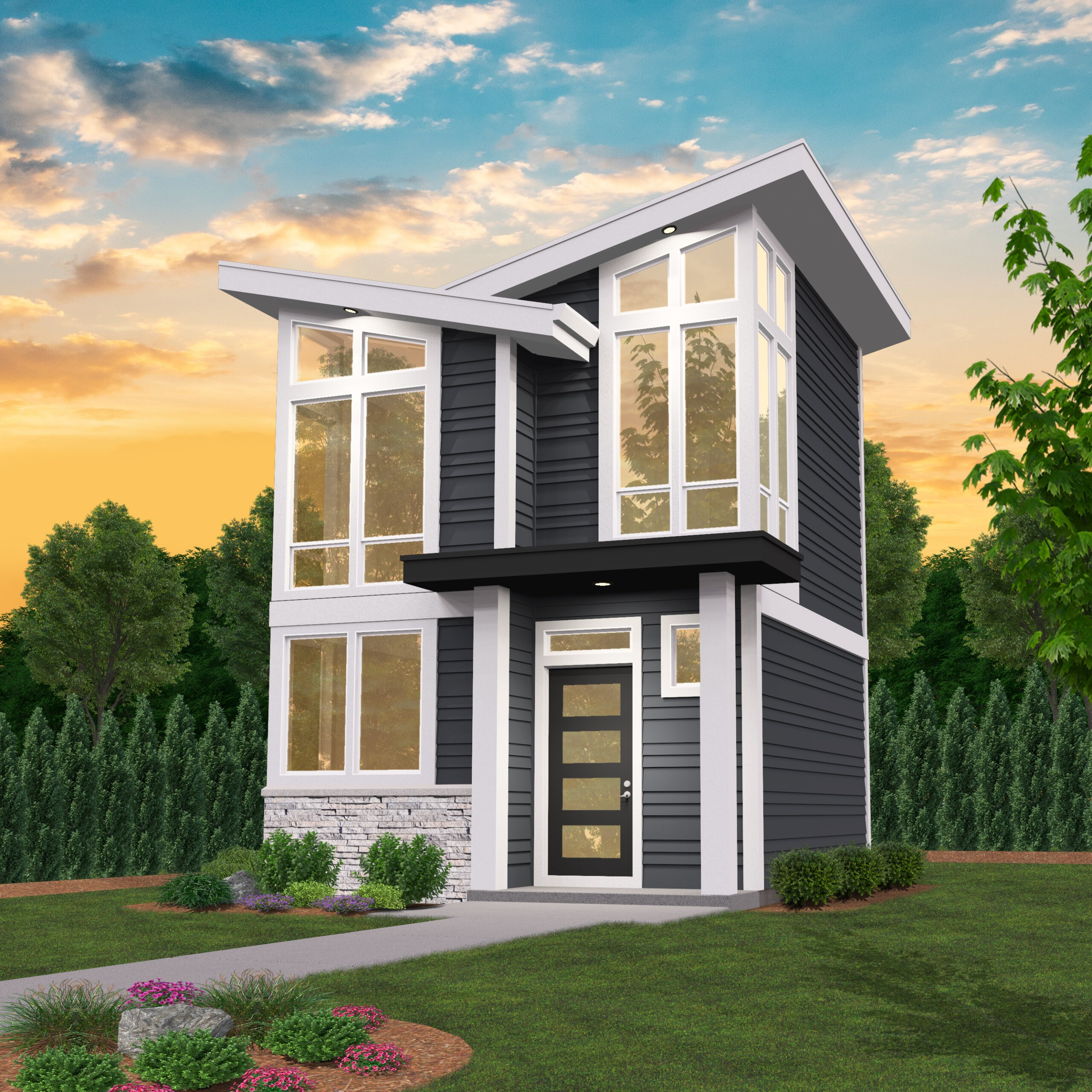 Jacko S Place 2 Story Modern Small House Plan With Photos