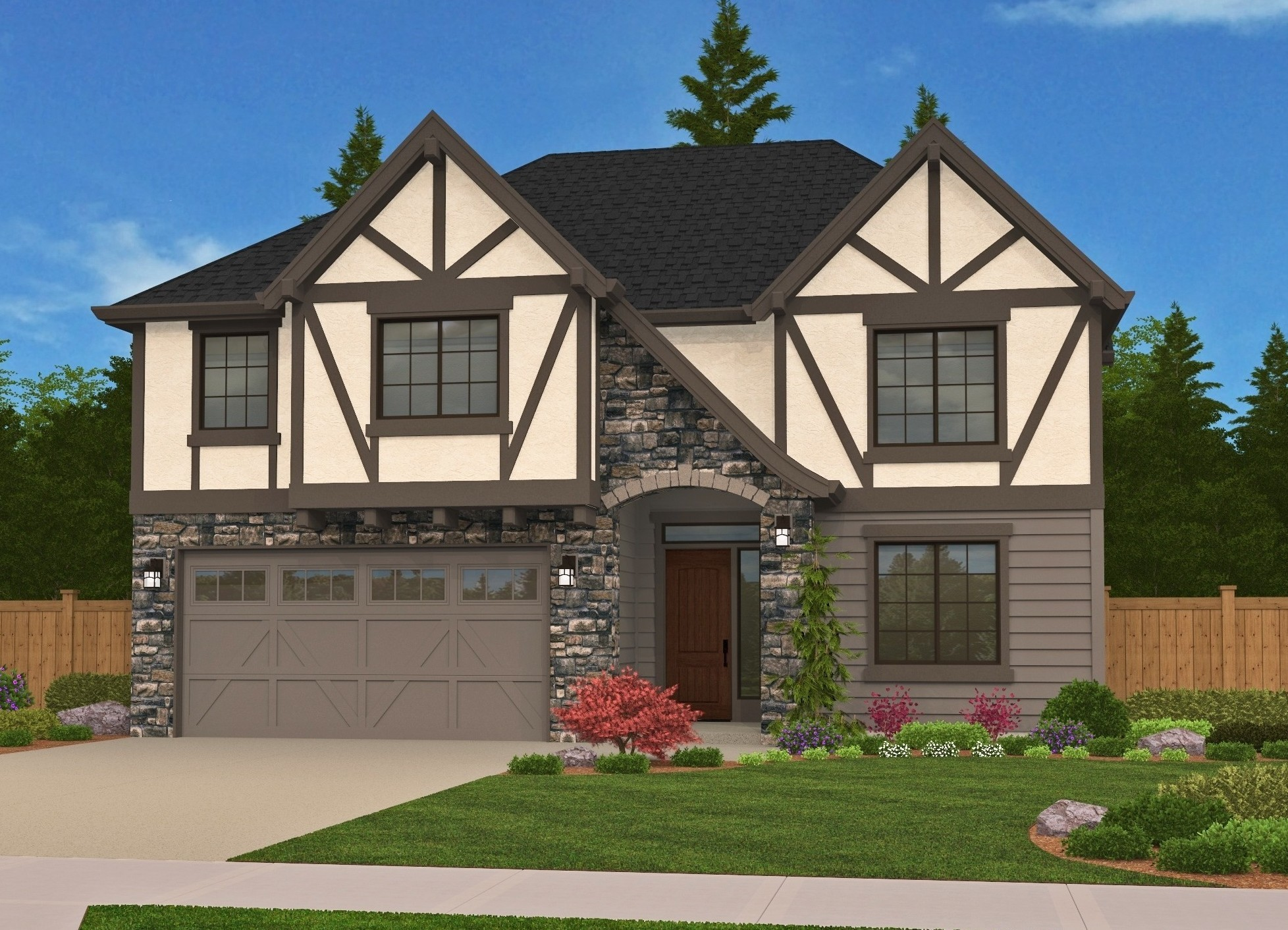 M 2606 Gfh Tudor Style Cottage House Plan