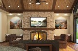 M-3216-B Great Room Fireplace TV Wall