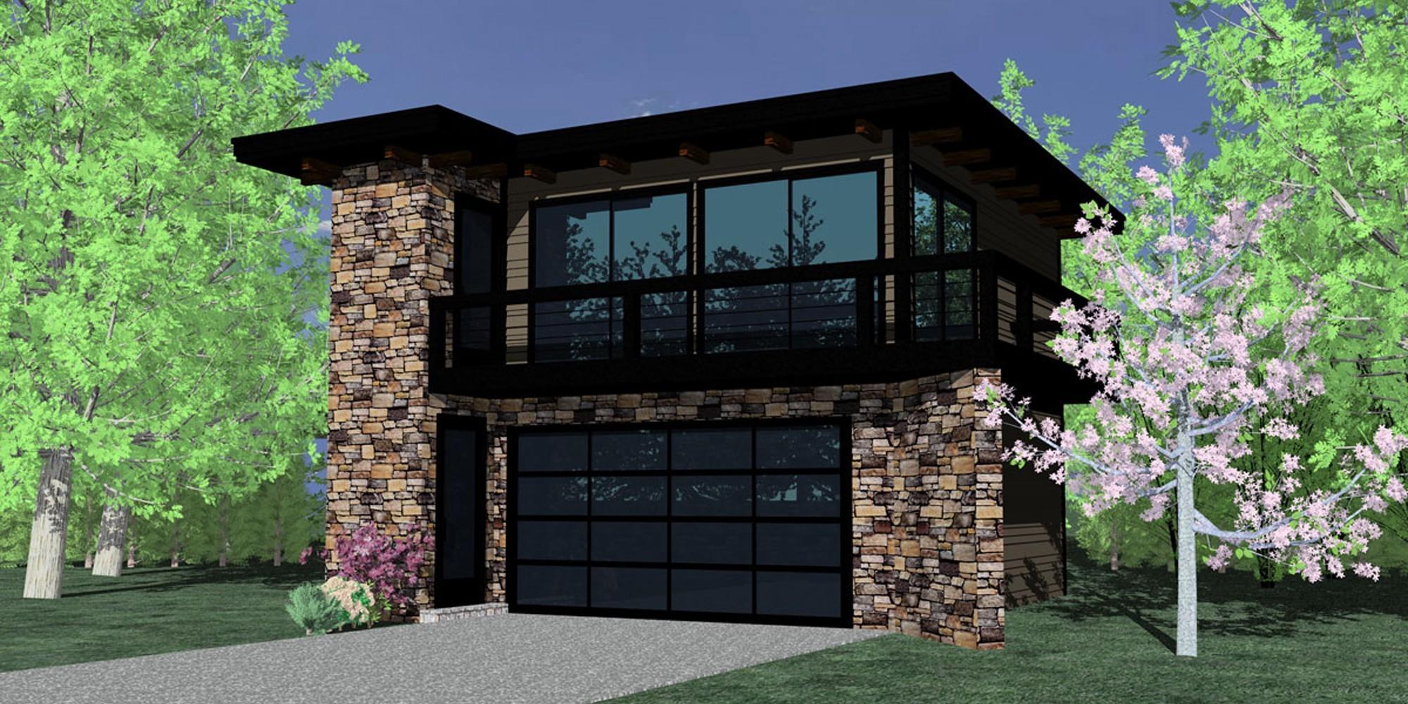 Black Pearl Sunset Modern House Plans u0026
