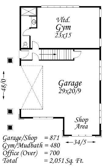 Vans place house plan contemporary house plans for 2000 sq ft gym layout