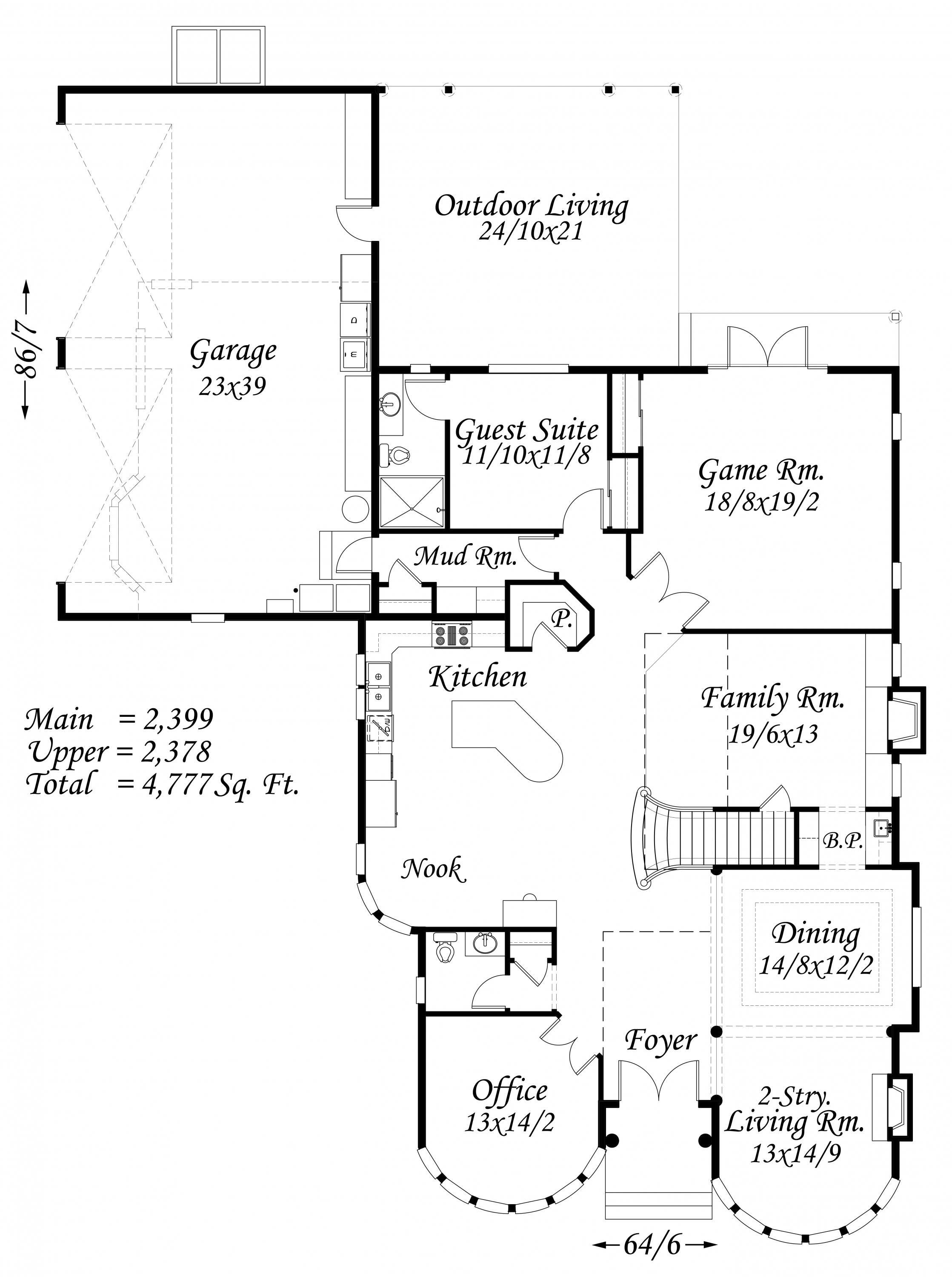 Luxurious house plan old world european style house plans for Old world house plans