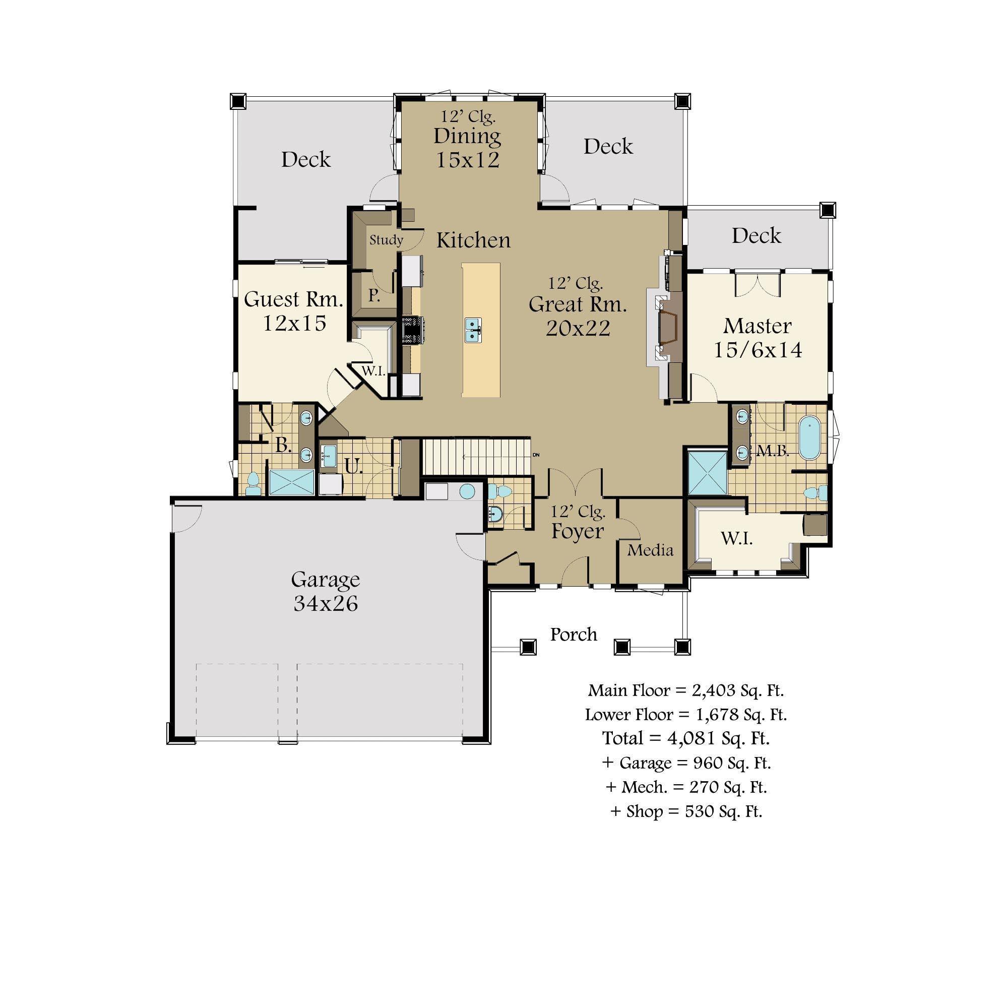 Wallowa prairie house plan by mark stewart home design for Prairie floor plans