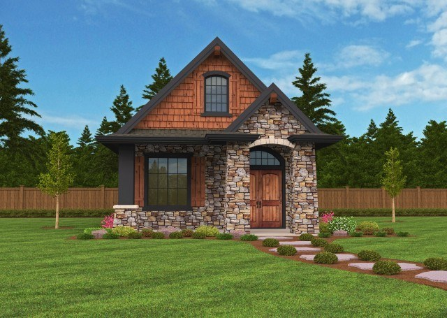 """Montana"" a Mark Stewart Small Cottage House Plan"
