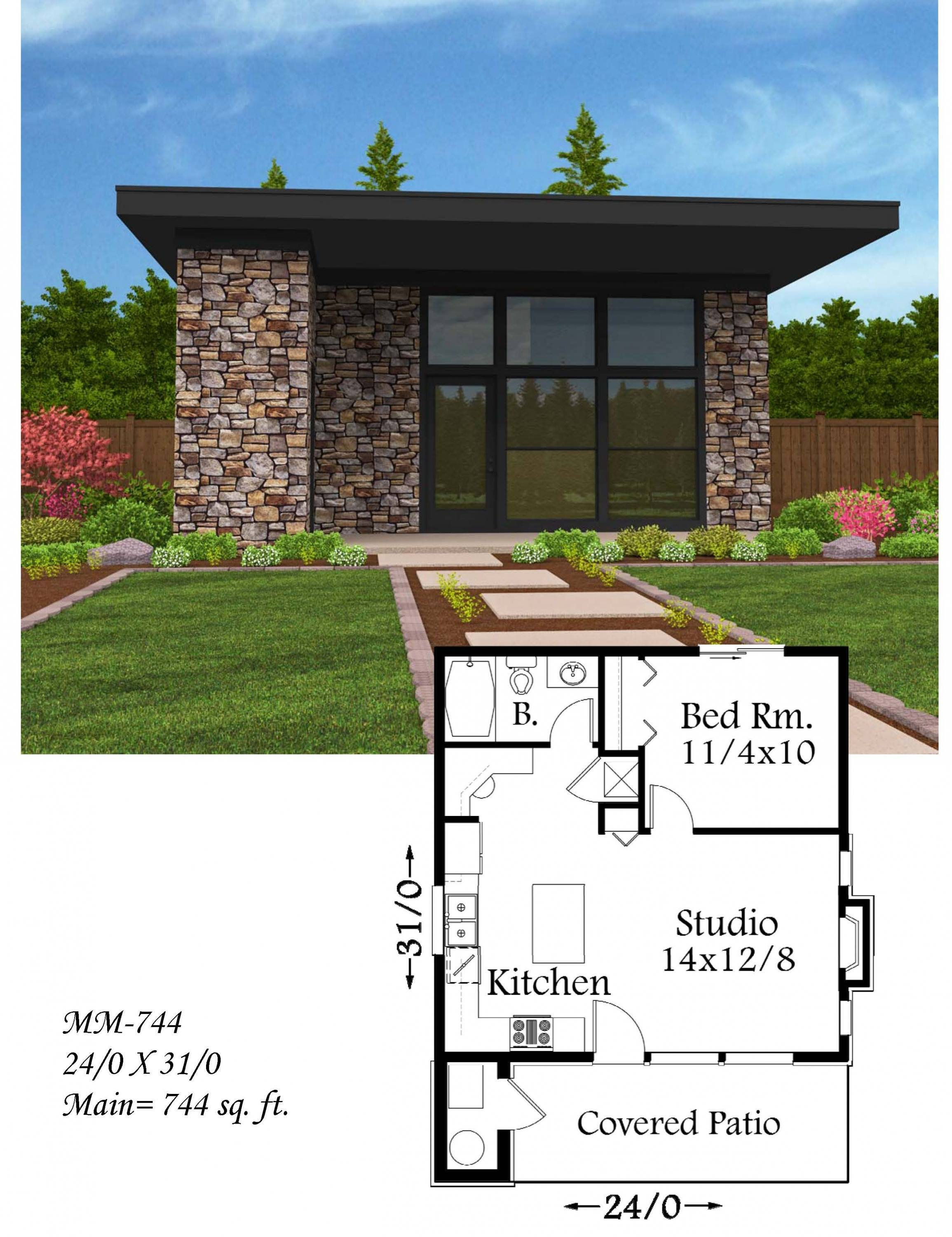 MM 744 - 44+ Modern Small House Floor Plans Free  PNG