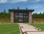 MM-640 (1) Small Modern House Plans Front Elevation