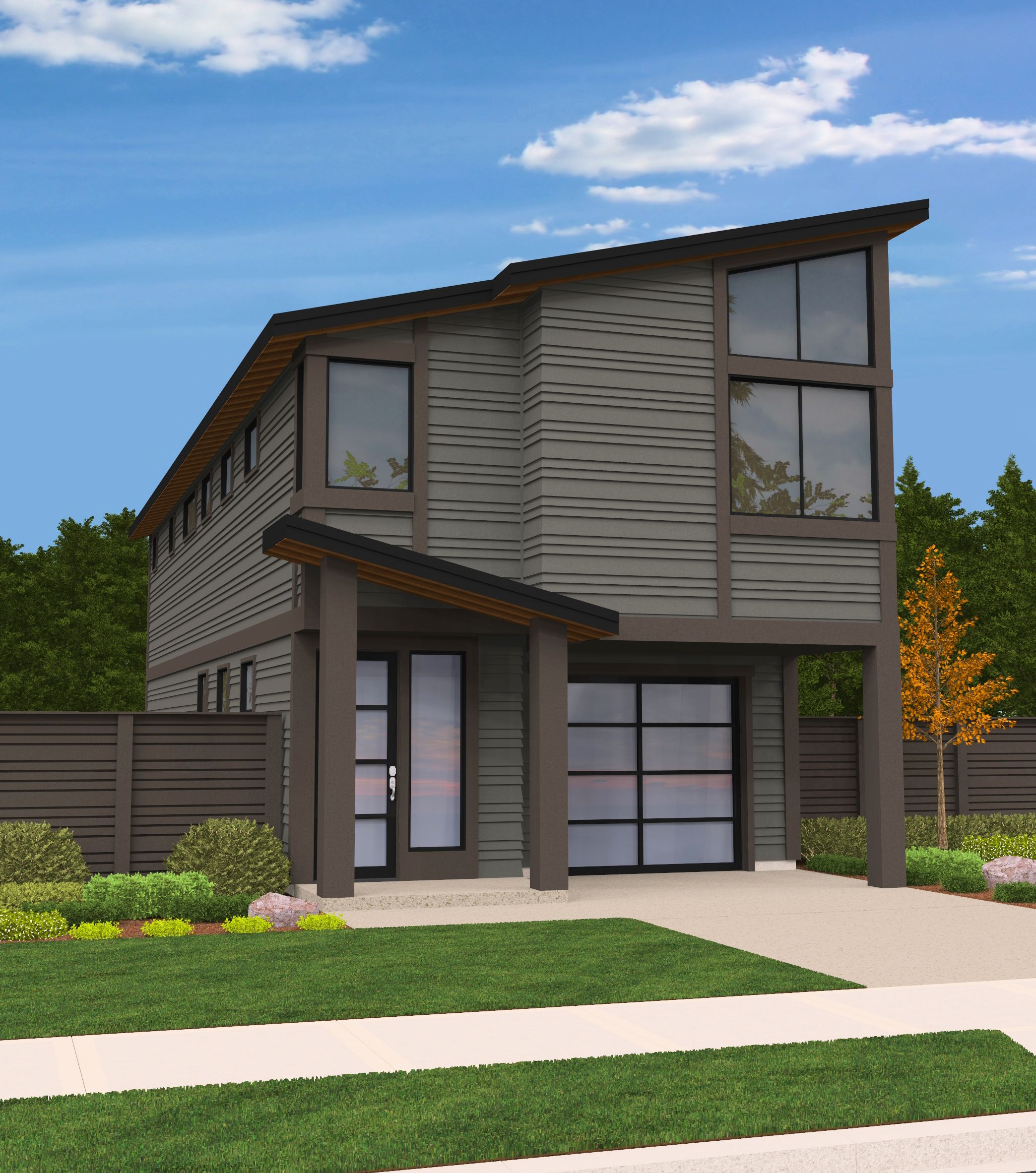 House Plan Narrow Lot Two Story