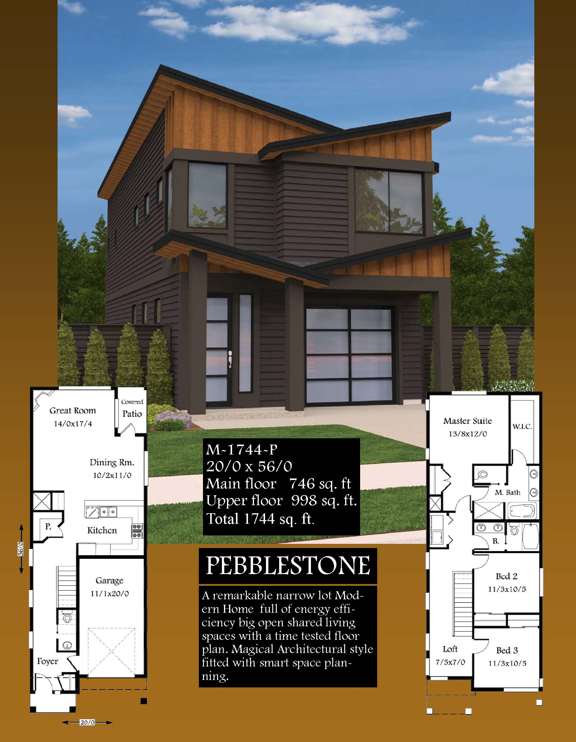 Pebblestone house plan contemporary house plans modern for Dwell small house plans